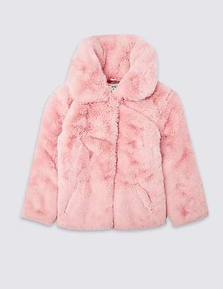 Marks and Spencer Faux Fur Coat (3-16 Years)
