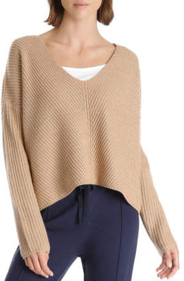 Nude Lucy NEW Camile V Neck Knit Beige
