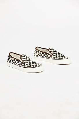 Vans Distressed Checkered Slip On Sneaker