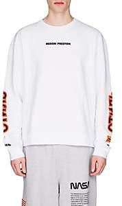 Heron Preston Men's Logo Cotton Fleece Sweatshirt - White