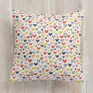 Doodle Hearts Square Pillow