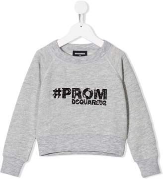 DSQUARED2 sequin embellished sweatshirt