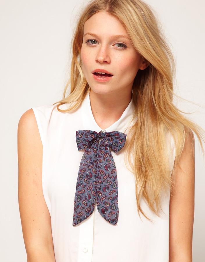 ASOS Paisley Bow Neck Tie