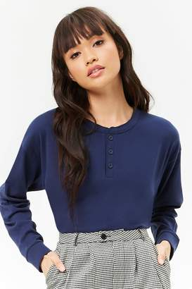 Forever 21 Raw-Cut Henley Top