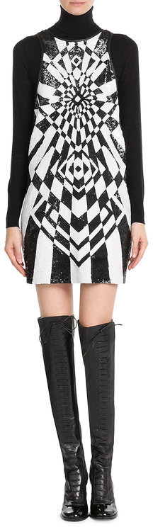 Emilio Pucci Emilio Pucci Sequin Embellished Silk Dress