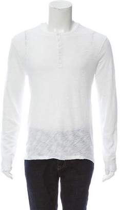 ATM Slub Jersey Destroyed Wash Henley