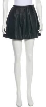 Rebecca Taylor Mini Leather Skirt