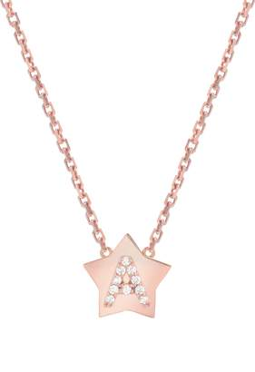 Mini Mini Jewels Star-Framed Diamond Initial Pendant Necklace