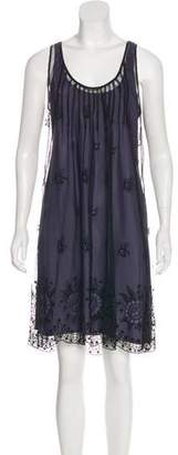 Rebecca Taylor Mesh Lace-Accented Dress