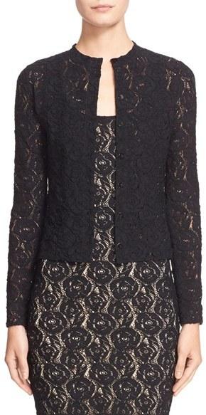 Fuzzi Floral Lace Cardigan