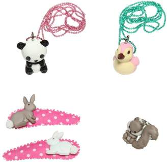 Pop Cutie Animals Ring, Necklaces & Hairclips Set