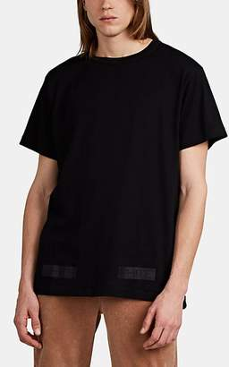 Off-White MEN'S LOGO-BOX FINE-GAUGE COTTON T-SHIRT - BLACK SIZE M