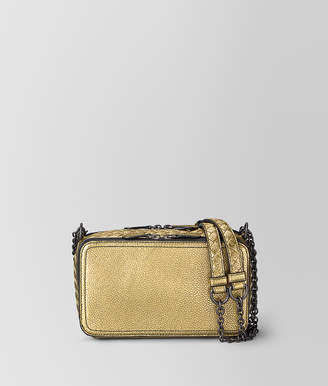 Bottega Veneta CHAIN WALLET IN METALLIC CALF