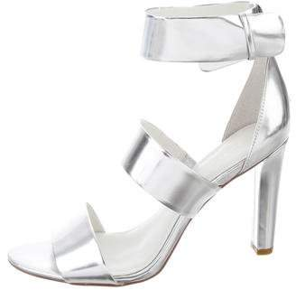 Calvin Klein Metallic Strappy Sandals
