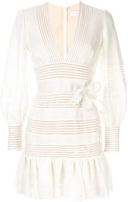 Zimmermann Corsage linear short dress
