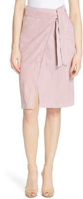 BA&SH Malica Suede Wrap Skirt