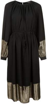 Derek Lam Long Sleeve Peasant Dress with Tie Belt
