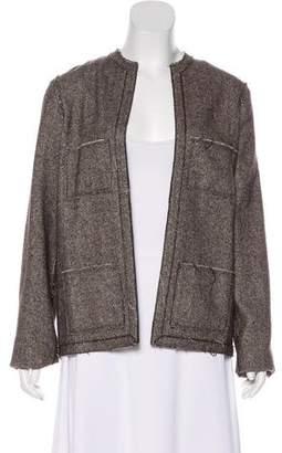 Lanvin Cashmere-Blend Herringbone Jacket