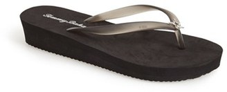 Tommy Bahama 'Whykiki' Wedge Flip Flop (Women) $37.95 thestylecure.com