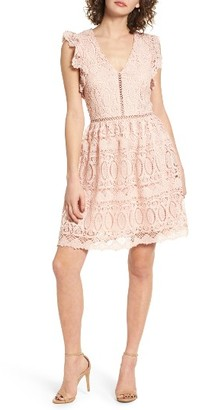 Women's J.o.a. Lace Fit & Flare Dress $105 thestylecure.com