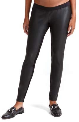 Ingrid & Isabel R) Under Belly Faux Leather Maternity Leggings