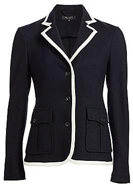 Rag & Bone Rag& Bone Rag& Bone Women's Uni Contrast Piping Wool Blazer