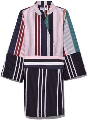 Apiece Apart Boro Patch Wrap Jacket in Stripe Mixto