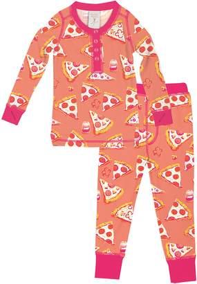 Munki Munki Pizza Fitted Two-Piece Pajamas