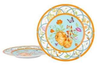 Hermes Pair of Siesta Island Dessert Plates