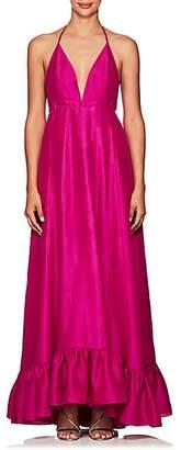 Azeeza Women's Marmol Silk Gown - Magenta