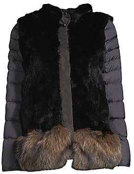 Post Card Women's Reversible Quilted Fur Jacket
