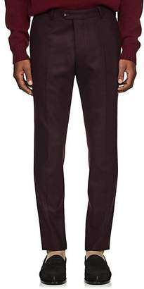 Officine Generale Men's Wool Flannel Trousers - Wine