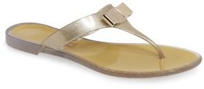Women's Salvatore Ferragamo Jelly Flat Bow Sandal $240 thestylecure.com