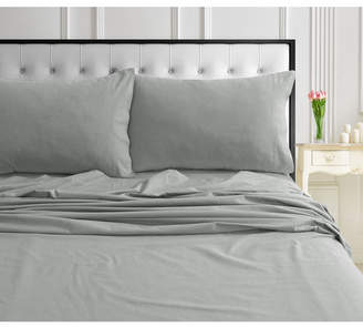 Ultrasoft Tribeca Living 170-gsm Ultra-Soft Cotton Flannel Solid Extra Deep Pocket Cal King Sheet Set Bedding