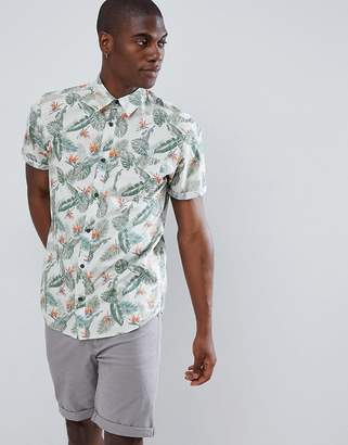 Jack and Jones Originals Short Sleeve Shirt With All Over Print