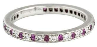 Tiffany & Co. Platinum Diamond & Pink Sapphire Eternity Band
