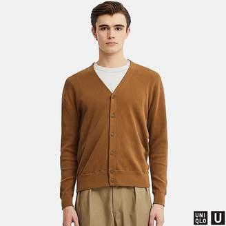Uniqlo Men's U Cotton Blended V-Neck Long-sleeve Cardigan