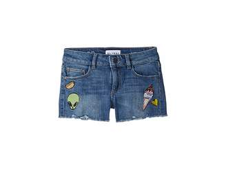 Almost Famous DL1961 Kids Lucy Patch Work Shorts in Big Kids)