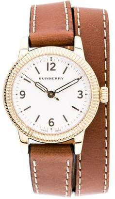 Burberry Utilitarian Double Wrap Watch
