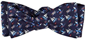 Salvatore Ferragamo Men's Sailboat-Print Silk Bow Tie $130 thestylecure.com