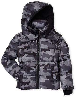 S13 (Toddler Boys) Grey Camo Downhill Down Jacket