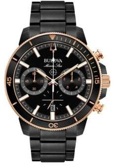 Bulova Marine Star Stainless Steel Chronograph Bracelet Watch