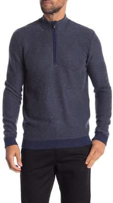 Raffi Cashmere Diagonal Knit Textured Pullover