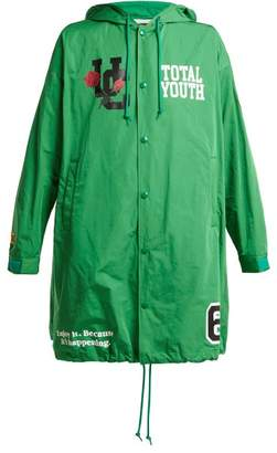 Undercover Total Youth Hooded Raincoat - Womens - Green
