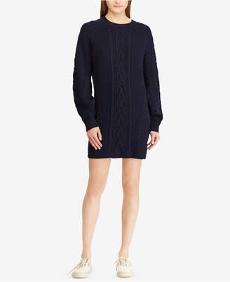 Polo Ralph Lauren Aran-Knit Wool Sweater Dress