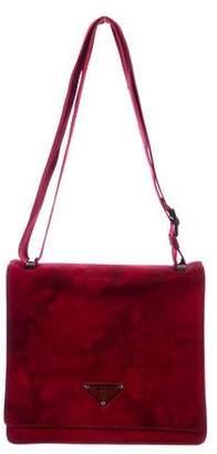 Prada Suede Messenger Bag