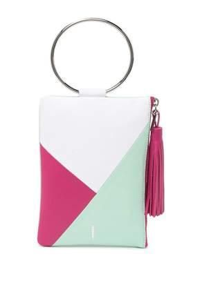 THACKER Nolita Colorblock Leather Zip Pouch