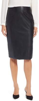 Halogen Faux Leather Pencil Skirt