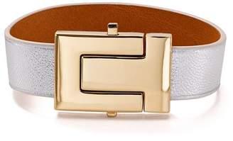 Tory Burch T-Logo Color-Block Leather Bracelet
