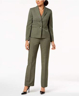 Le Suit Two-Button Melange Pantsuit, Regular & Petite